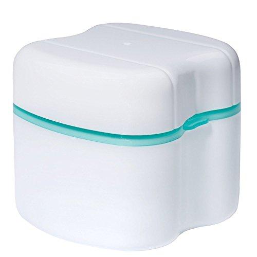 Contenedor para Caja de baño para dentadura, YouGer Caja para Almacenamiento de Dientes Falsos dentales para Uso doméstico y de Viaje