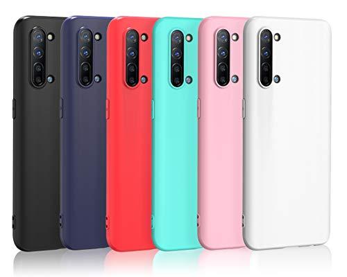 ivoler 6 Stücke Hülle für Oppo Find X2 Lite, Ultra Dünn Tasche Schutzhülle Weiche TPU Silikon Gel Handyhülle Hülle Cover (Schwarz+Blau+Rot+Grün+Rosa+Weiß)