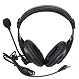 Retevis Walkie Talkie Earpiece Boom Mic 2 Pin Overhead Headphone with VOX PTT Headset Microphone for Baofeng UV-5R BF-888S Retevis H-777 RT22 RT21 Two Way Radio (1 Pack)