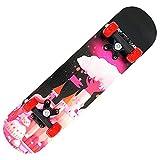 LYLSXY Monopatín Completo Skateboard ,Monopatín para Principiantes Niñas Niños,con Mejor flexibilidad y Durabilidad (Color : Dream Castle)