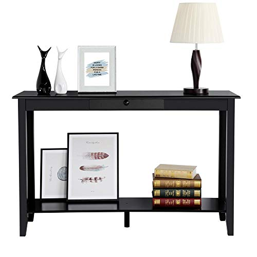 Yaheetech Console Sofa Table with Drawer and Shelf, Narrow Occasional Table for Living Room Entryway...