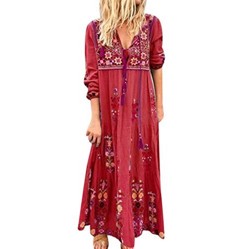 Plus Size Kleid Mädchen Kleider Festlich Kleid Weiß Hijab Kleider Frauen Kommunionskleid Muslimische Kleider Damen Unterkleid Hautfarbe Satin Kleid Tunika Kleid Damen Sommer(Rot,5XL)