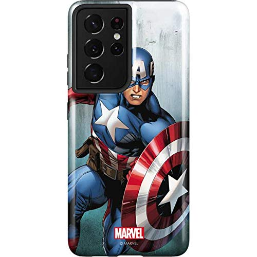 Skinit Pro Phone Case Compatible with Galaxy S21 Ultra 5G - Officially Licensed Marvel Captain America Design