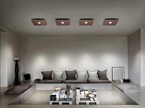 Studio Italia plafondlamp FROZEN brons koper handgemaakt, Made in Italy