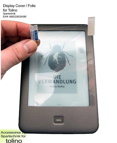 Adhäsion Folie für Tolino Shine Tolino Shine 2 HD & Tolino Vision Vision 2 Vision 3 HD von Bertelsmann Weltbild Thalia Telekom Hugendubel - transparenter Schutz - sensitiv & entspiegelt für Display (11,8 x 8,7 - 6