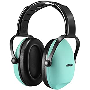 Mpow Ear Defenders Kids [Upgraded] Comfortable Kids Ear Muffs SNR 26db / NRR 22dB Noise Reduction Baby Ear Defenders for Fireworks,Sporting Races,Concert Ear Defender for Children -Tiffany Blue