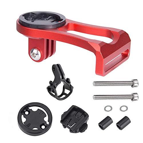 huici Soporte de aluminio para bicicleta para ordenador, soporte de alargador de tallo de bicicleta para GPS/Stopwatch/Sports Camera