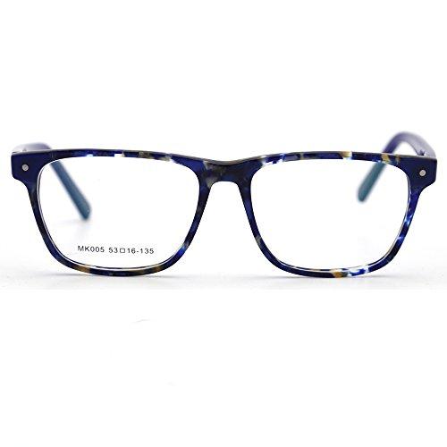 Natwve&Co 2018 - Gafas de sol para hombre, diseño de tortuga, rectangular, color negro
