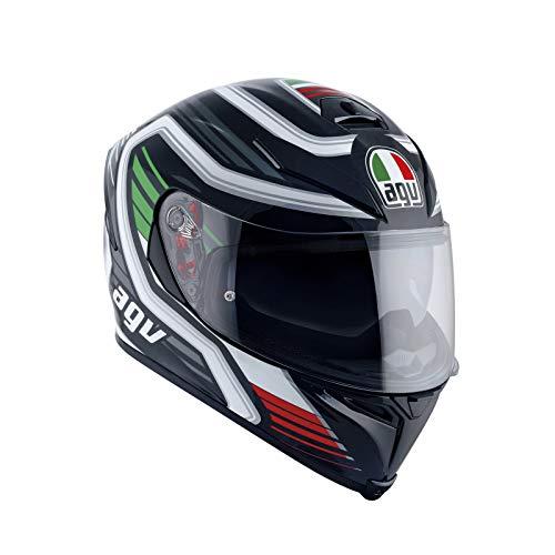 AGV Casco Moto Integrale K-5 S E2205 Multi Plk, Nero Firerace/Italy, Taglia ML