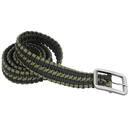 WLH Cinturón De Supervivencia De La Cuerda De Paraguas Mano Tejida De Cintura Militar Cinturón De Cintura para Caminatas para Caminar