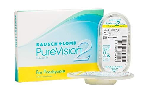 BAUSCH + LOMB - PureVision®2 For Presbyopia - Lentes de contacto de reemplazo mensual para Presbicia