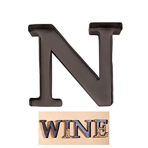 "1 X Personalized Letter ""N"" Metal Wall Wine Cork Holder - Monogram Wall Art"