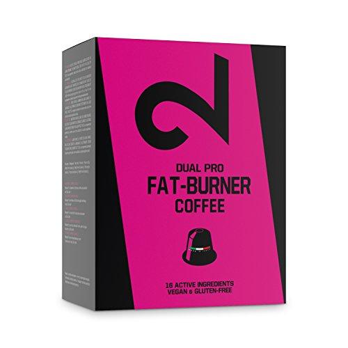 DUAL Pro FAT BURNER COFFEE   Caffè fitness   Caffè bruciagrassi   Gusto e aroma delizioso con 16 ingredienti   Potenza, focus e aumento delle prestazioni   10 Capsule compatibili con Nespresso