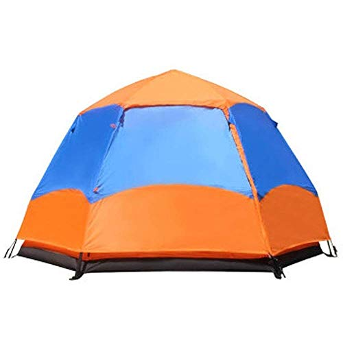 LHQ-HQ 5-8 Person Yurt Tent, Waterproof Folding Removable Double-layer Camping Fishing Summer Beach Tent 240 * 240cm Automatic Camping Tent