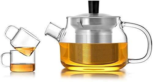 Bouilloire induction Home Théière à théière Théa de thé 470ml verre résistant à la chaleur Théière transparente Petite coupe Filtre Filtre Sécurité pour bureau extérieur WHLONG (Size : 470ml)