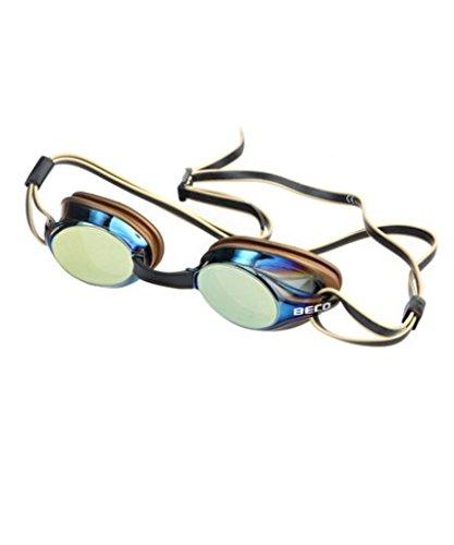 Beco Unisex– Erwachsene Boston Mirror Wettkampfbrille, Gold, One Size