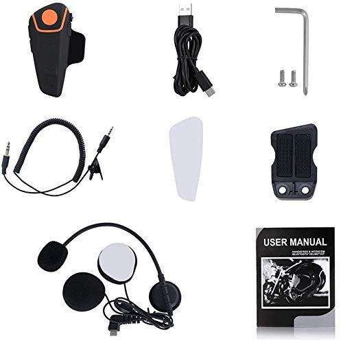 Cobeky Kit de sistemas de comunicación para casco de motocicleta BT-S2, micrófono de radio para casco