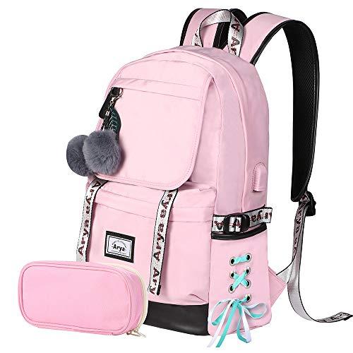 Arya Backpack for Girls Kids Bookbag Elementary Middle School Womens College
