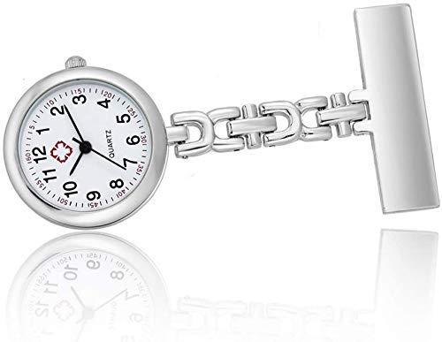 XHCP Einfache Taschenuhr für Damen Tischglasuhren Kompakte Armbanduhr mit digitalem Zifferblatt und Stiften Personalisiertes Abschlussgeschenk für Pflegepersonen