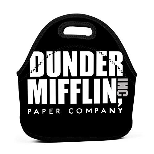 Dunder Mifflin Paper Lnc Bolsa de almuerzo reutilizable Fiambrera de picnic impermeable para la escuela Caminar por la carretera y la oficina Refrigerador cálido impermeable