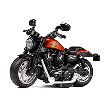 Mini Motorcycle Toy - with Light and Music Toys Motorcycle Model ,Gift Toys for 3 4 5 6 7 8 Year Old Boys ,Toy Motorcycles for Boys  Orange