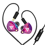 Docooler QKZ VK4 3.5mm Wired Headphones in-Ear Sports Headset Music Earphone in-line Control with Mic Detachable Replaced Cable