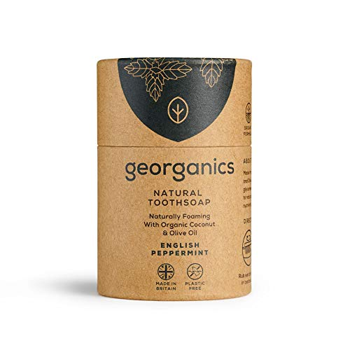 Georganics - Jabón Dental Blanqueador Orgánico - Jabón Dientes Naturales con Aceite...