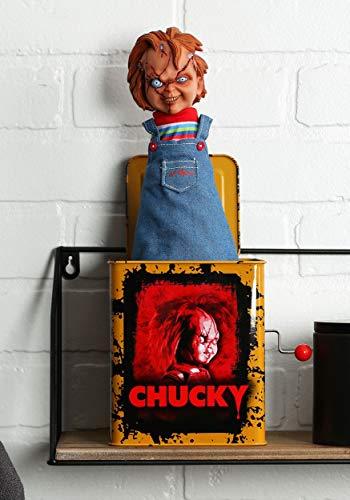 Chucky Burst a Box Chucky Springteufel Mechanische Musikbox mit Sound, aus Blech mit Springteufelfigur aus Kunststoff.