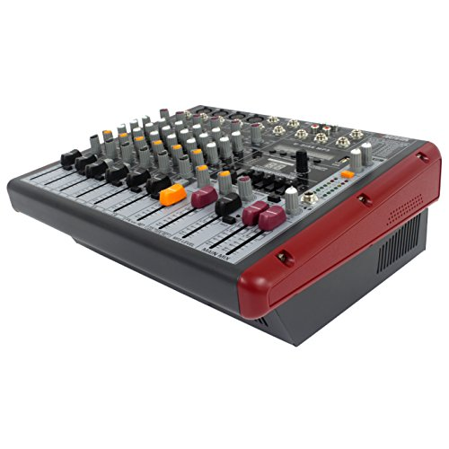 NOVIK NEO Mixer NVK 800P Usb 8 Channel Powered Mixer,MP3, WAV and WMA files, 1200W+1200W Peak Power,Graphic Equalizer