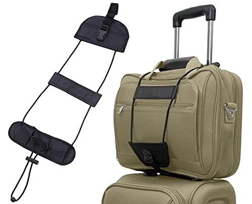 Correa elástica para equipaje de viaje - Conectar bolsas y maleta con correa ajustable - Cinturón de seguridad para equipaje con correas - Maleta de viaje elástica ajustable -