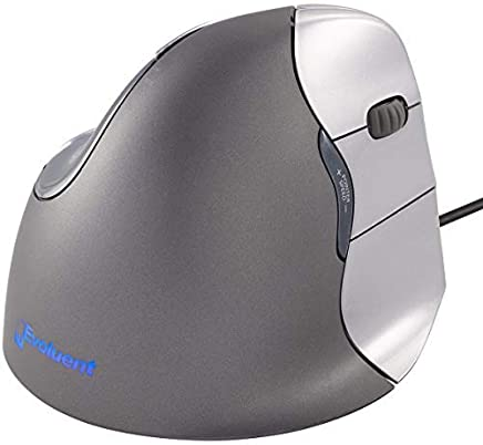 Evoluent VM4R VerticalMouse 4 Right Hand Ergonomic Mouse with Wired USB Connection (Regular Size)