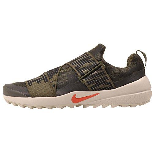 Nike Herren Air Zoom Gimme Golfschuhe, Herren, Cargo Khaki/Black Light Bone Max Orange, 9