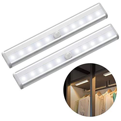 LDGGS LED Striscia Nastro Sensore di Movimento LED Cabinet Luce Sotto Letto lampada per Armadio Scale Corridoio Batteria di Potere Gabinetto Luce Notte
