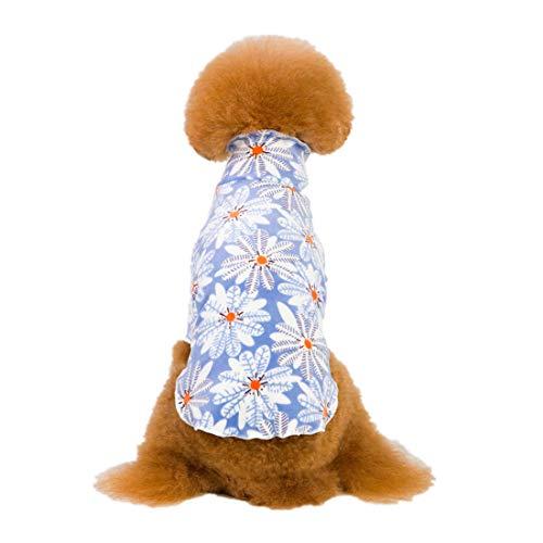 PZSSXDZW Ropa para Mascotas Cuello Alto Mullido Base Blanda Ropa para Perros Pijamas de Perro de Servicio a Domicilio. Purple Large