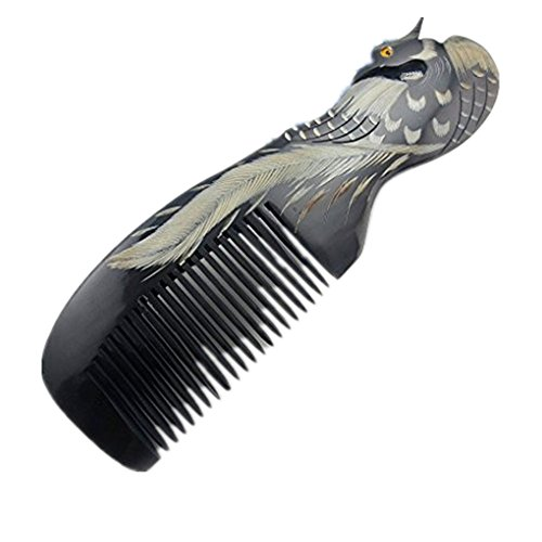 Peigne soin des cheveux Peigne Nature à Cheveux décoratif Peigne Sculpture Pratique et Antistatique Véritable Jolie Forme Textile de cheveux beauté de femme cheveux long et court