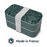 monbento - MB Original Fiambrera Lunch Box Made in France - Bento Box con 2 Compartimientos Herméticos - Fiambrera Trabajo/Escuela - sin BPA - Segura y Duradera (Graphic Jungle)