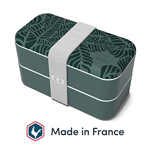monbento - MB Original Graphic Jungle Bento Box Made in France - Brotdose mit 2 Fächer - Lunch Box perfekt für Büro/Meal prep/Schule