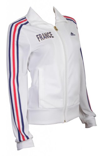 adidas France Track Top Jacke Sportjacke Damen Weiss