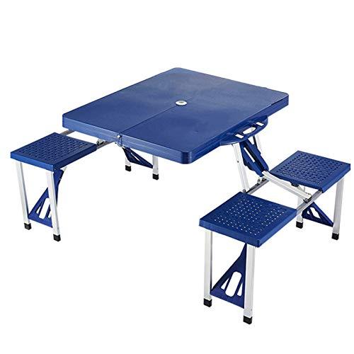 Mesa plegable y silla de aleación de aluminio, mesa de picnic portátil,...