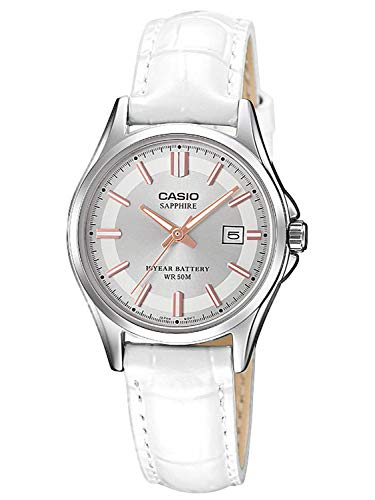 CASIO Damen Analog Quarz Uhr mit Leder Armband LTS-100L-9AVEF