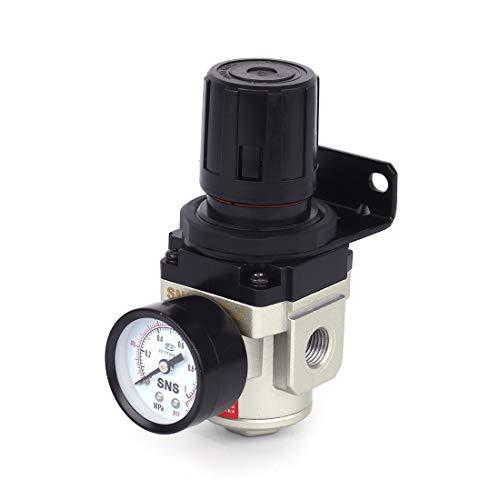 SNS AR3000-N02 Female Thread 1/4 NPT Air Pressure Regulator 0-150 PSI Adjustable,Bracket,Gauge