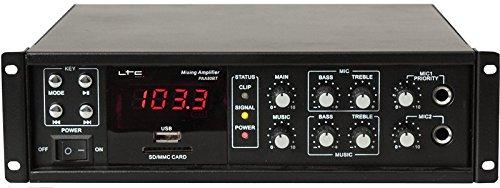 LTC PAA80BT - Amplificador de megafonía (80 W, con Bluetooth, USB-MP3, tuner FM)