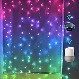LED Curtain Lights WiFi Smart Twinkle String Window Lights Work with Echo Alexa Google Assistant|Remote APPlTimer|Million ...