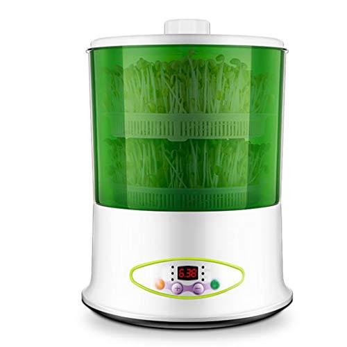SHUYU Máquina de brotes de Frijoles, brotador de Semillas, máquina automática de brotes de Cereales, Temperatura Constante Inteligente, con Tanque de Agua de 1.8L y paño de Sombra (Color : Green1)