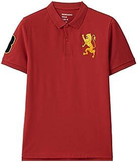 قميص بولو بتطريز اسد ثلاثي الابعاد للرجال من جيوردانو