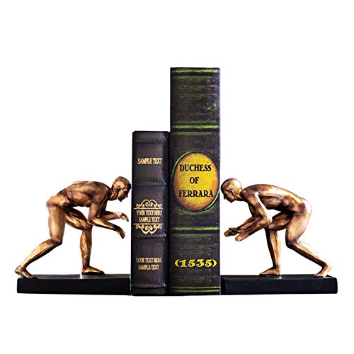 FTFTO Living Equipment Book Ends Creative Cool Runner Bookend Desktop Decoration Bronze Statues Gifts for Kids Student School Library Study Home Office Decorative Gifts