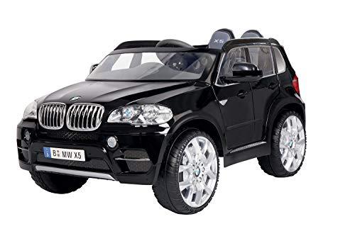 ROLLPLAY Premium Elektrofahrzeug mit Fernsteuerung und Rückwärtsgang, Für Kinder ab 3 Jahren, Bis max. 35 kg, 12-Volt-Akku, Bis zu 5 km/h, BMW X5 SUV, Schwarz