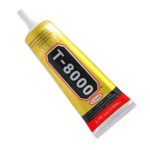 MMOBIEL T-8000 Mehrzweck Flüssig Kleber High Performance Industrie Klebstoff transparent inkl. Präzisionstipp für sauberes Arbeiten (110 ml / 3,7 oz)