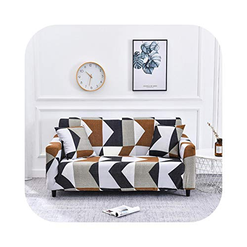 Onln 2021 Sofa Cover for Living Room L Shape Couch Cover Stretch Sectional 1/2/3/4 Seater Corner Sofa Covers Universal Slipcover-flower5-4-seater(235-300cm)