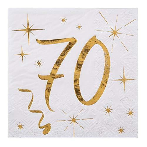 Servietten mit goldenen Schriftzug 18, Geburtstagsservietten 18 gold (70)